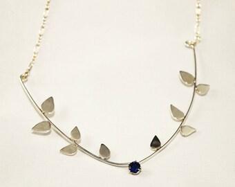 Sapphire Vine Necklace