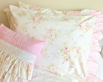 Ritzy Baby Shabby Vintage Chic Standard Pillowcase with Ruffled Trim