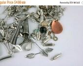 SALE SALE SALE Vintage Variety Jewelry Making Supplies Silver Clasps Destash Lot Crafting Supplies