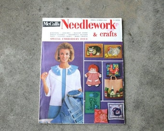 SALE SALE SALE Vintage Magazine McCalls Needlework and Crafts Special Embroidery Issue Spring Summer 1965 Sewing Embroidery Knit Crochet