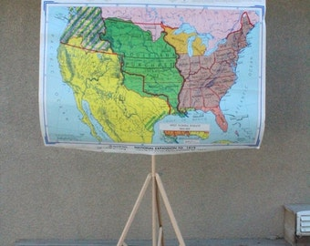 SALE SALE SALE Vintage Map Set School United States History Rand McNally Exploration Colonization Latin America Civil War Tripod Set Eight