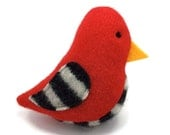 Birds of a Sweater Catnip Cat Toy - Red with Black and White Stripes