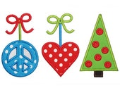 SAMPLE SALE ---Girl - Peace, Love, Christmas Shirt -Free Personalization!!!