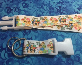 Tsum Tsum  Lanyard with Removable Key Chain End