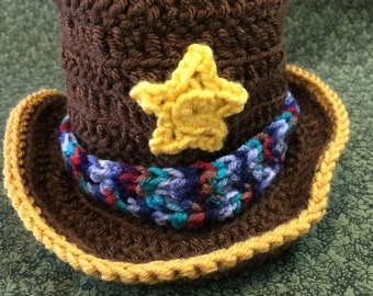 Adorable Little Cowboy hat, perfect for the new little Baby