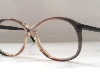 80s Vintage German Köln Optik Oversized Round Frame Eyeglasses