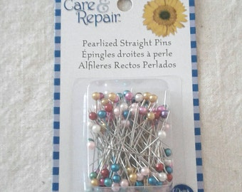 Care & Repair Pearlized Straight Pins - 120 ct