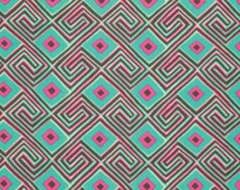 Amy Butler's Glow, Maze, Seaglass, 1 yd.
