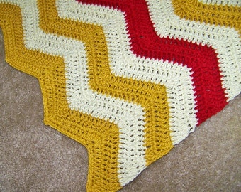 Crochet Baby Blanket - Knit Blanket - Baby Blanket - Knit Baby Blanket - Chevron Blanket - Crochet Afghan Throw - Knit Nursery Blanket