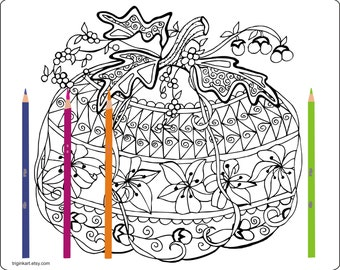 Pumpkin Adult coloring page
