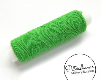 20m (21.8 yards) Shirring Elastic Thread for Sewing, Millinery - Green