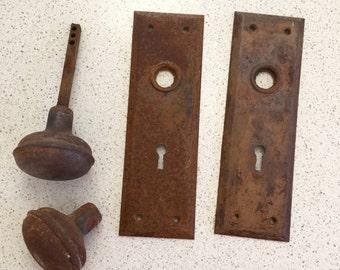 Vintage Rusty Door Knob Hardware