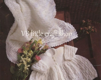 Baby's coat and shawl knitting pattern. Instant PDF download!