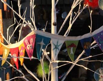 Holiday/Seasonal Hand Felted Banner