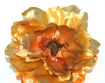 Metallic Yellow Gold Peony  -Boutique Silk Flowers, Artificial  Flower Heads - PRE-ORDER