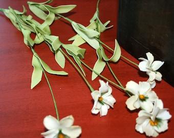 5 Cream Daisy Stems - Arificial Flowers - PRE-ORDER