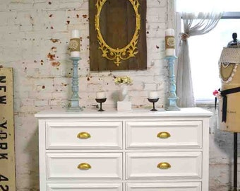 RESERVEGustavoPainted Cottage Chic Shabby Romantic French Chest / Dresser