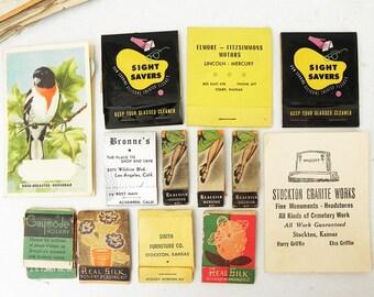 13 Vintage Hosiery Real Silk Repair Kit Advertising Sewing Needle book Nail Files Glass Cleaner Tissue Ephemera