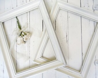 French Country Frames, Vintage Frames, White Frames, Large Ornate Frames, Shabby Cottage Decor, Paris Apartment, 11x14 Wood Frames
