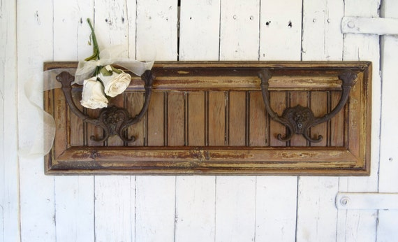 Rustic Cabin Wall Decor : Cottage wall hooks rustic cabin decor log coat by