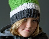 Crochet PATTERN - Brighton Slouchy Hat for Babies, Toddler, Child, Ladies and Men Crochet Slouchy Hat Pattern