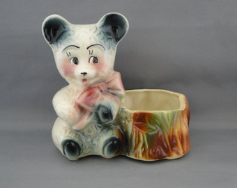 American Bisque Bear Planter