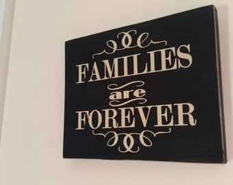Families are Forever - mormon, LDS, LDS temples, Christian sign, chalk style sign