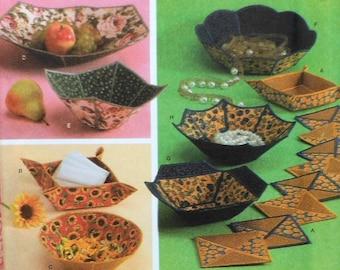 Fabric Bowl Sewing Pattern UNCUT Simplicity 4506