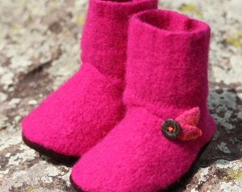 Wool Baby Booties: 12-18mo.