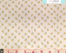 Yellow and White Ditsy Floral FLANNEL Fabric, 1 yard