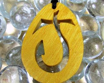Cross Pendant / J Cross / Yellow Heart Wood