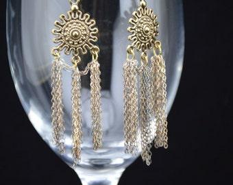 Golden Sunburst Earrings