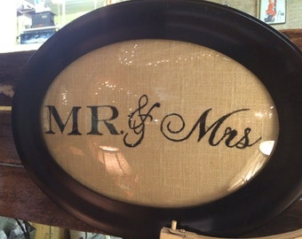 Mr and Mrs Framed painting
