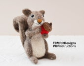 PDF Gray Squirrel Needle Felting Instructions, Intermediate/advanced Level Fiber Art