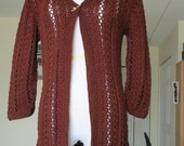 Brown cotton blend cardigan no. 270