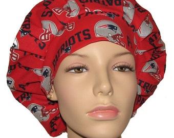 Scrub Hats - New England Patriots Fabric
