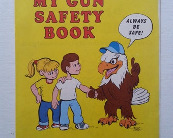 Early 1970's NRA Gun Safety Coloring Book For Children