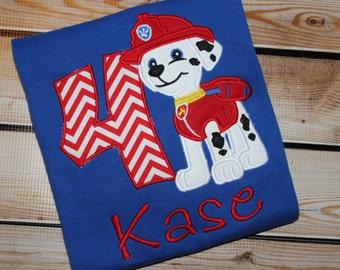 Personalized Dog Birthday shirt ~ Puppy birthday shirt ~ Fire dog