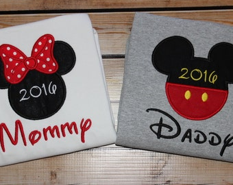 Minnie Mouse Mommy  Mickey Mouse Daddy Shirt Disney Trip