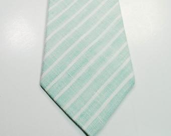 Mint Neckties Skinny Mint Neckties Wedding Neckties Mint Linen Necktie Mens Neckties Custom Neckties Mens Neckties