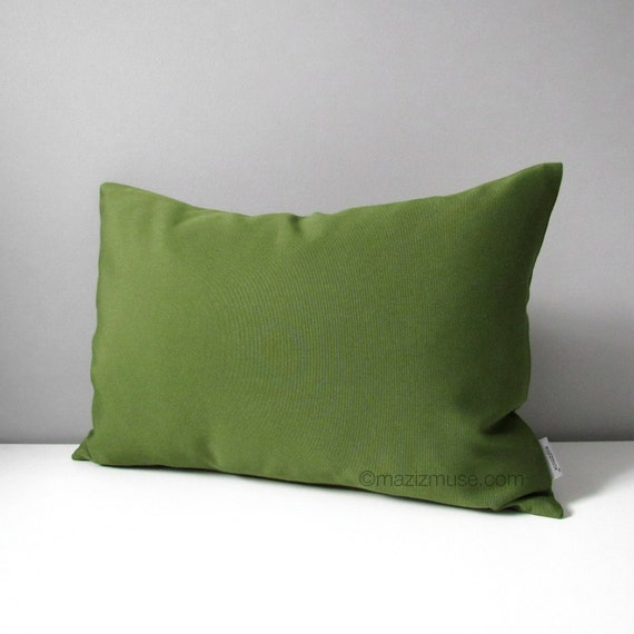 Olive Green Outdoor Pillow Cover Decorative Throw Pillow