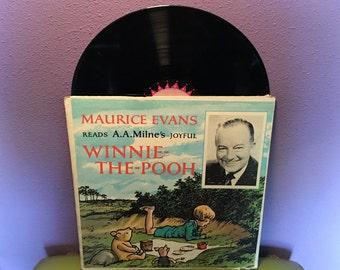 FINAL SALE Vinyl Record Album More Winnie The Pooh Read by Maurice Evans LP 1954 Children's Classics