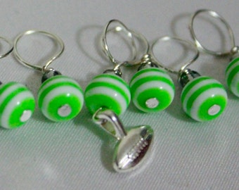 Pigskin Party Stitch Markers