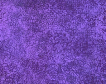 Scrollscapes Fabric Purple Crocus 24362 L Quilting Treasures