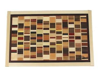 Bordered Mosaic Cutting Board