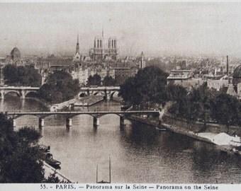 Paris Postcard Set, France, Antique French Photographs, Circa 1930s, Lots of Views