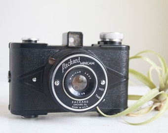 Vintage Camera, Packard Minicam, Little Art Deco Camera, Gift Under 50, Art Deco Design, Cool Collectable Vintage Camera