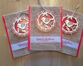 SALE!!! Bird Ornament and Card Set