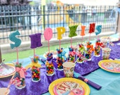 Shopkins Party, Shopkins, Shopkins Centerpiece, Candyland Party, Shopkins Party Supplies, Foam Letters, Shopkins Party Decorations