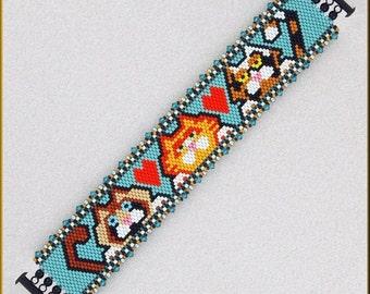 HEREEEEE KITTY KITTY! Peyote Bracelet Pattern